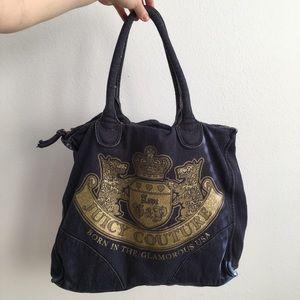 Juicy Couture Large Denim Tote Bag